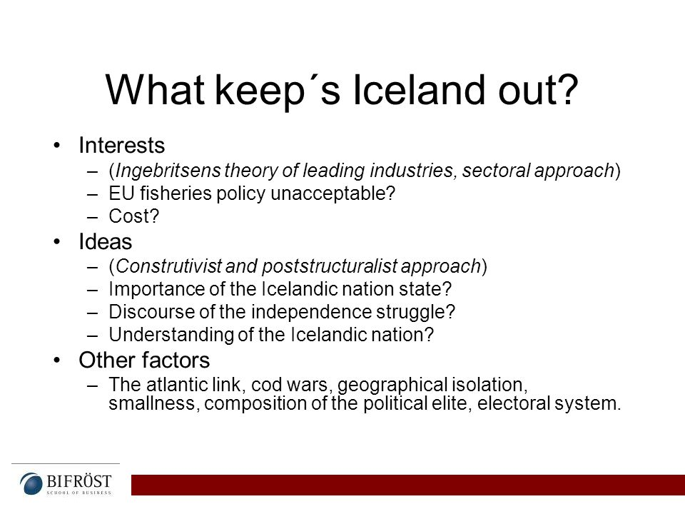 What keep´s Iceland out.