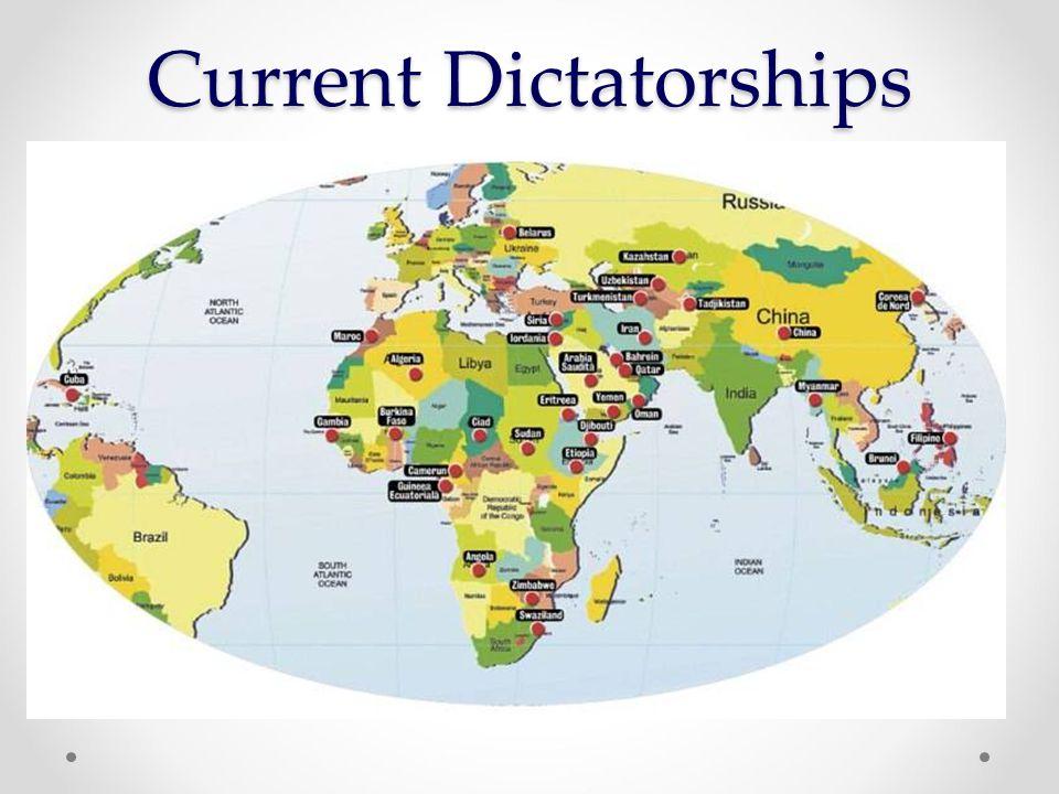 Current Dictatorships