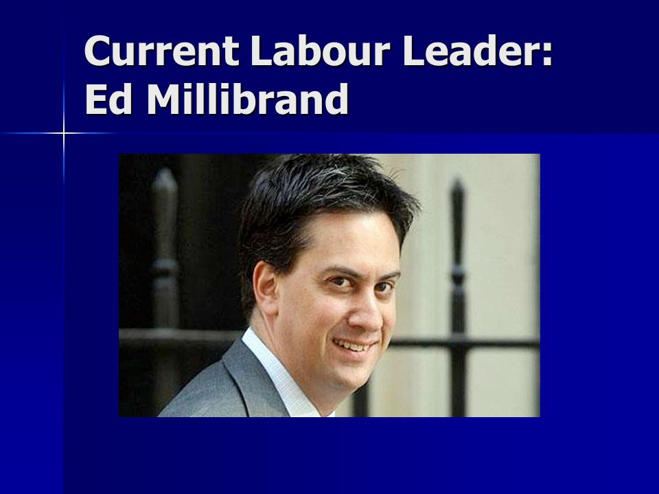 Current Labour Leader: Ed Millibrand