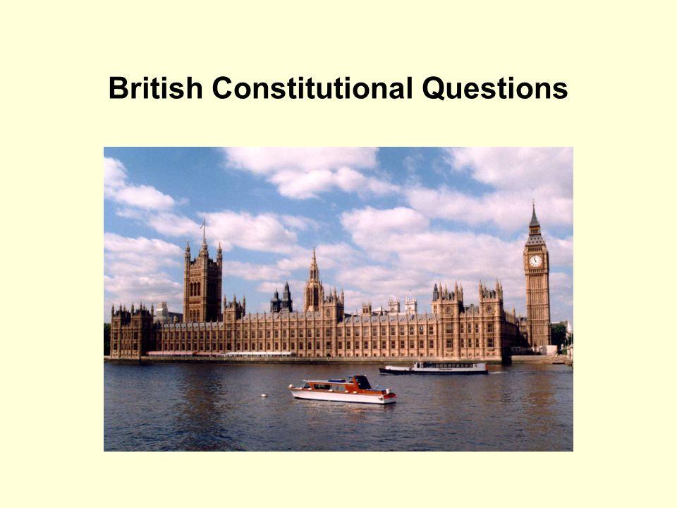 British Constitutional Questions