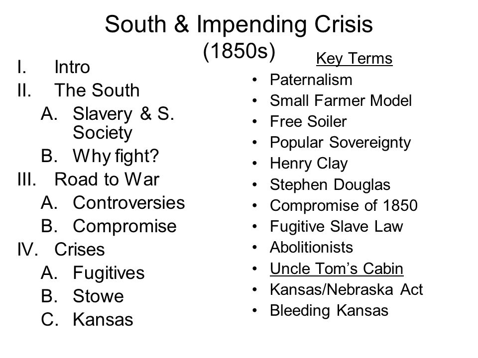 Bleeding Kansas (1855-56) Supporters & opponents of slavery converged in Kansas.