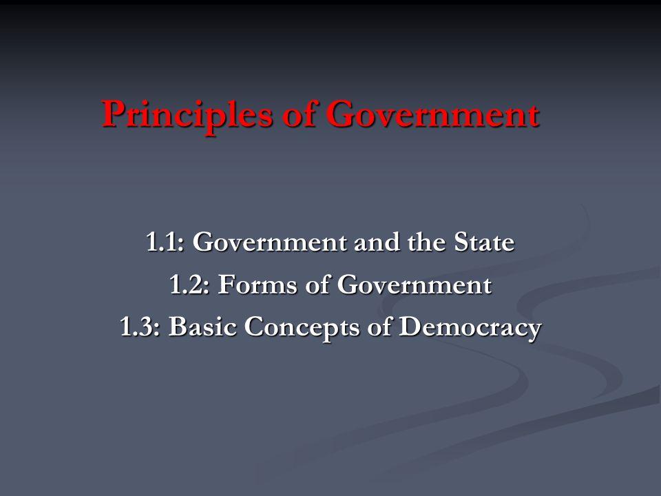 3.Relationship Between Legislative and Executive Branches A.