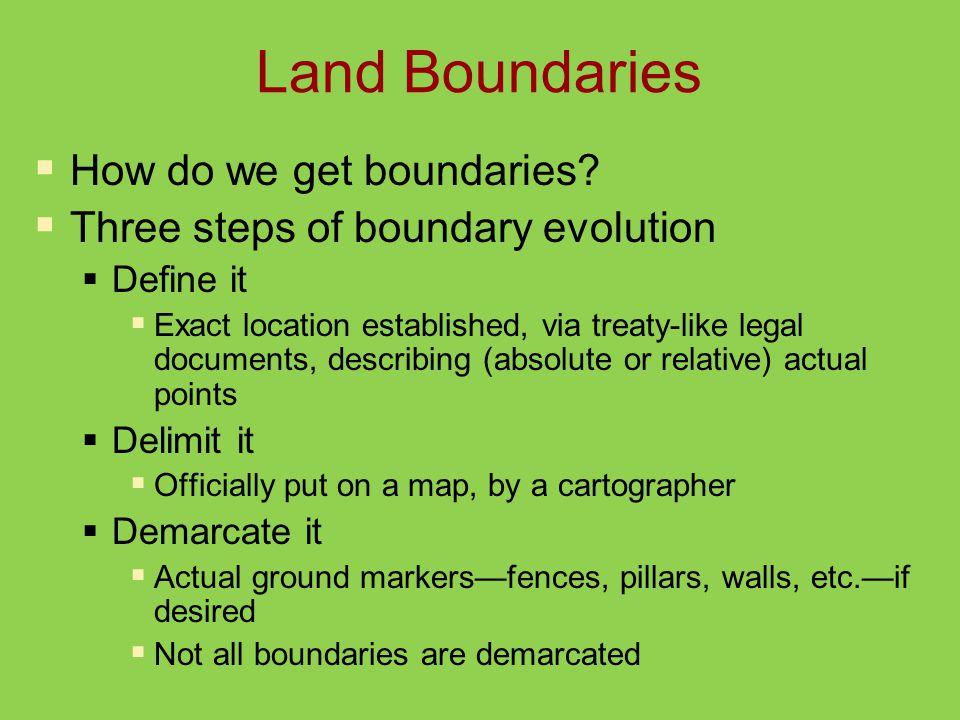 Land Boundaries  How do we get boundaries.