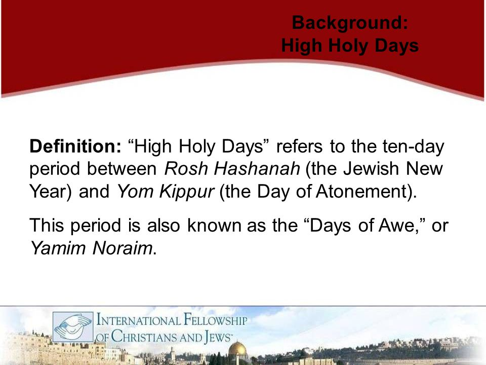 International Fellowship of Christians and Jews 30 N.