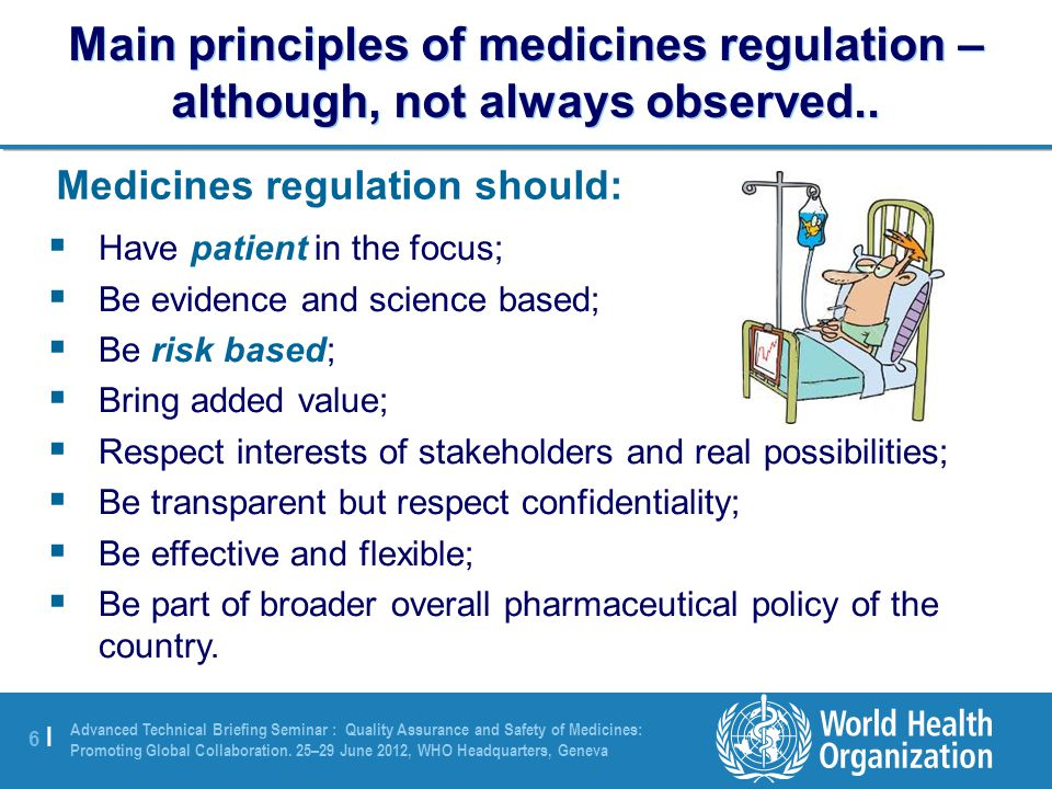6 |6 | Advanced Technical Briefing Seminar : Quality Assurance and Safety of Medicines: Promoting Global Collaboration.