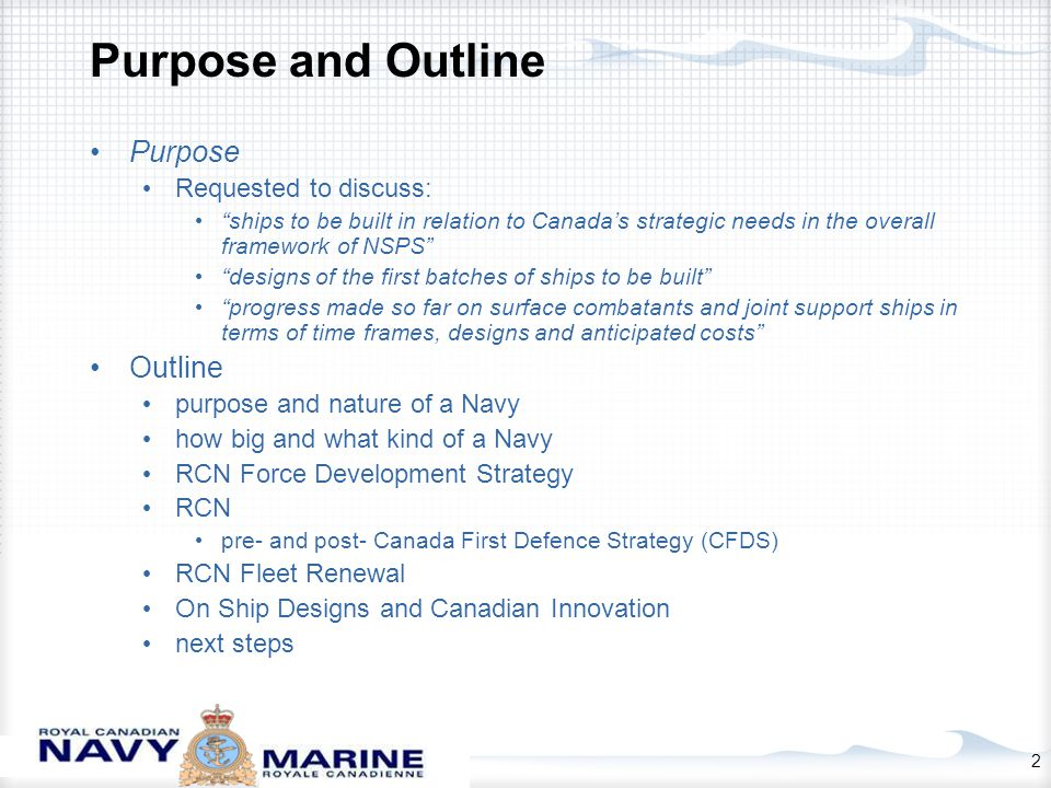3 On the Purpose and Nature of a Navy A navy is a state's main instrument of maritime force.