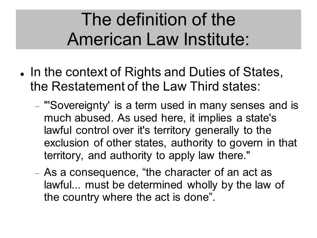 The minority view: U.S v.