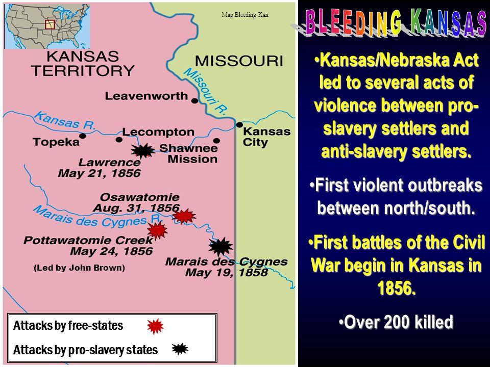 """Bleeding Kansas"" Border ""Ruffians"" (pro-slavery Missourians )"