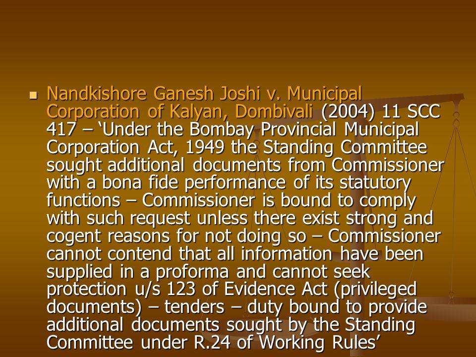 Nandkishore Ganesh Joshi v.