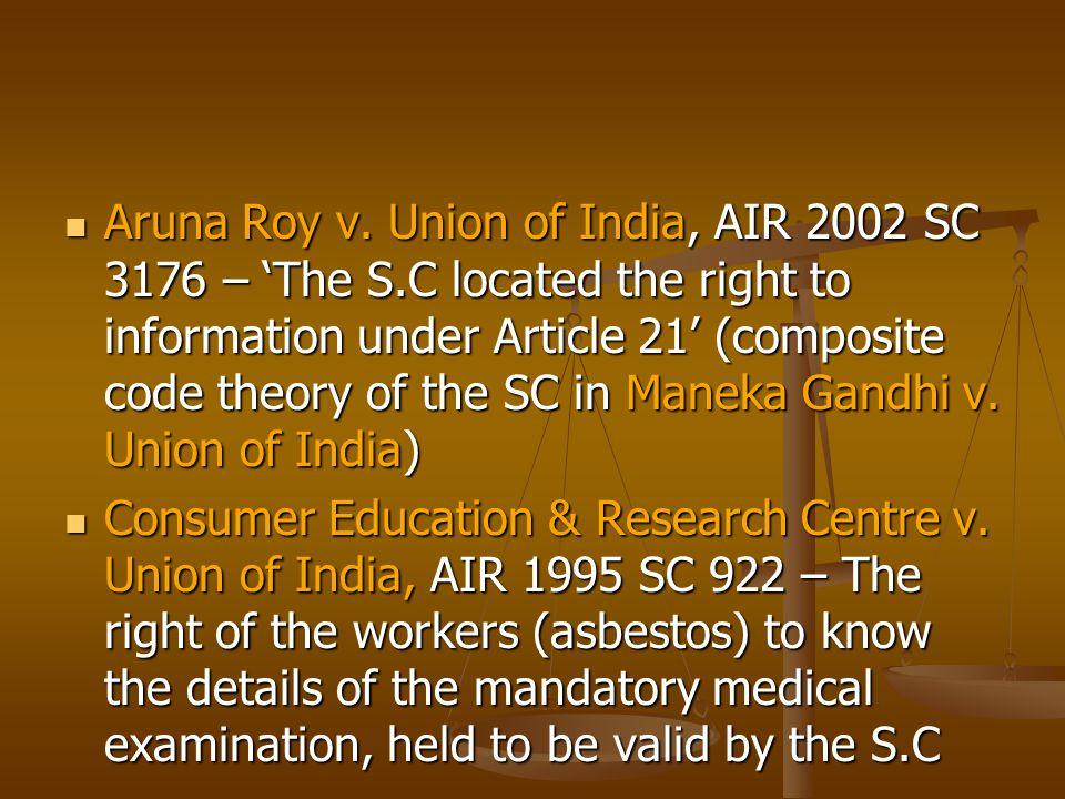 Aruna Roy v.