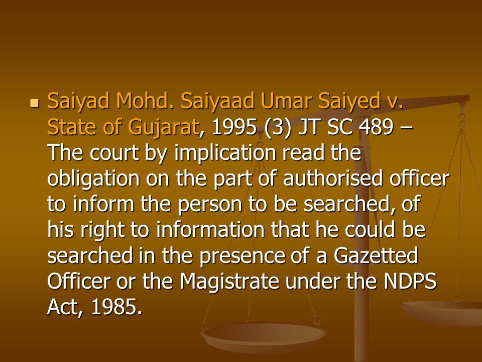 Saiyad Mohd. Saiyaad Umar Saiyed v.