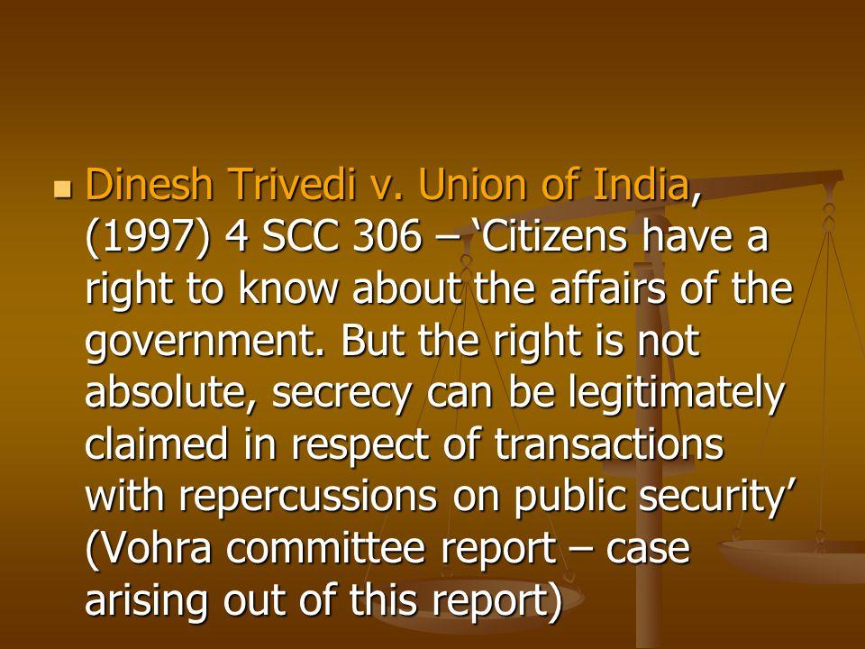 Dinesh Trivedi v.