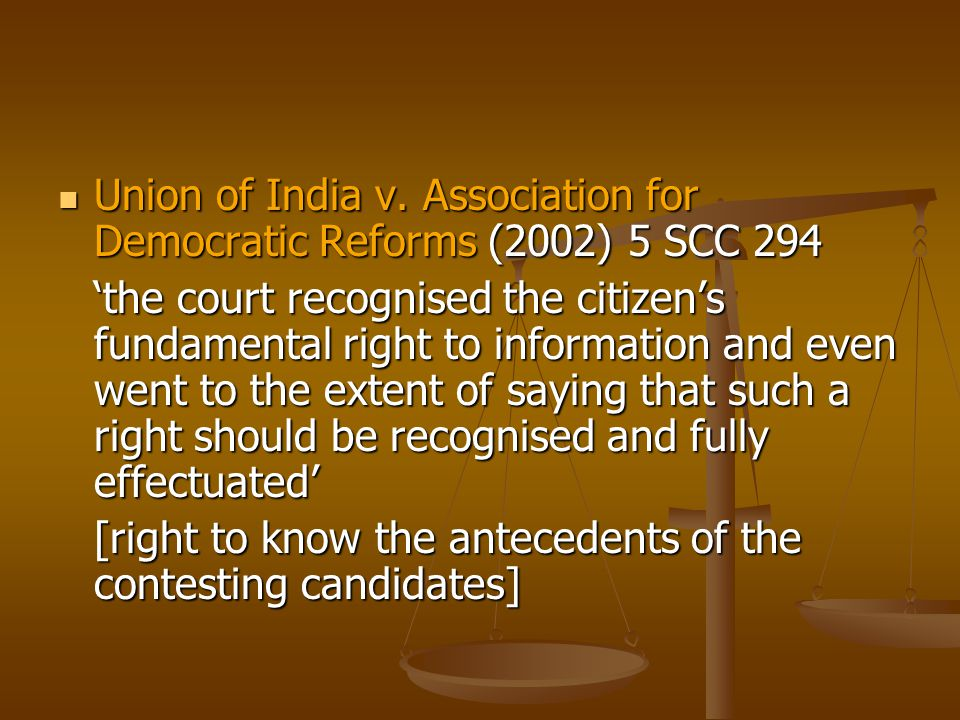 If the Supreme Court could lay down these principles as indicated earlier without a law on the right to information, then just imagine what it could do by interpreting the provisions of the Right to Information Act, 2005 (irrespective of section 23) in the years to come to the benefit of the people and making the government responsible and accountable.