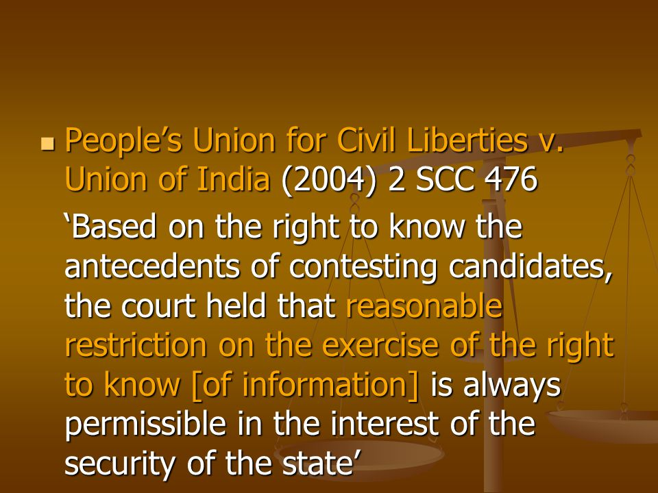 Section 2 (j) – right to information means 'the right to information accessible under this Act which is held by or under the control of any public authority and includes the right to- Section 2 (j) – right to information means 'the right to information accessible under this Act which is held by or under the control of any public authority and includes the right to- (i) inspection of work, documents, records; (ii) taking notes, extracts or certified copies of documents or records; (iii) taking certified samples of material; (iv) obtaining information in the form of diskettes, floppies, tapes, video cassettes or in any other electronic mode or through printouts where such information is stored in a computer or in any other device