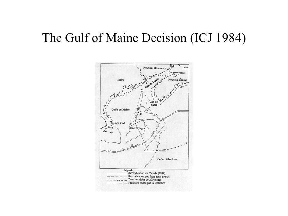 The Gulf of Maine Decision (ICJ 1984)