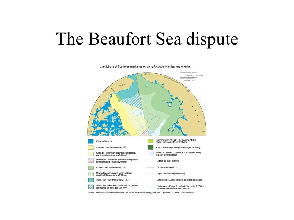 The Beaufort Sea dispute