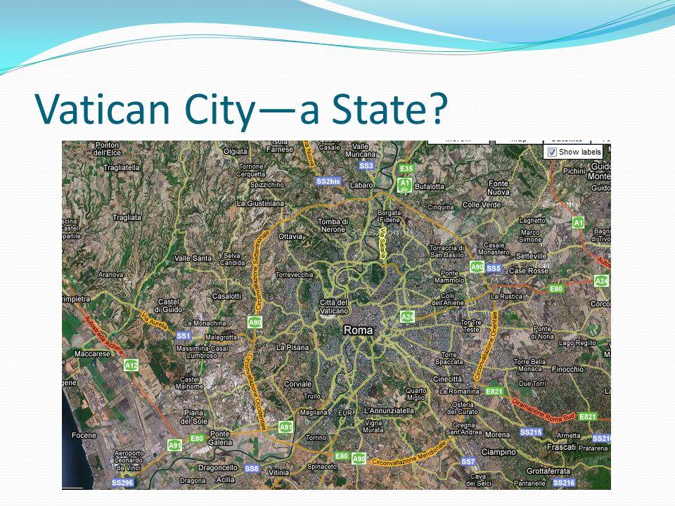 Vatican City—a State?
