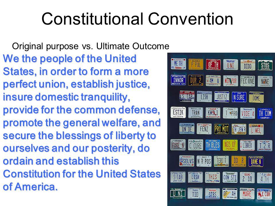 Constitutional Convention Original purpose vs.