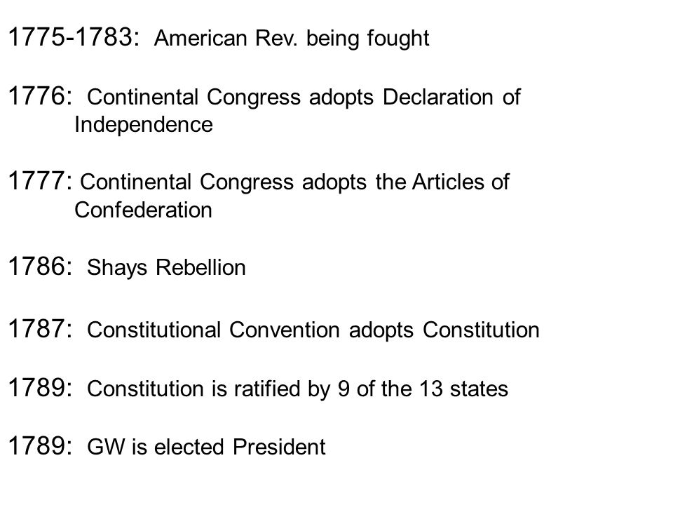 1775-1783: American Rev.