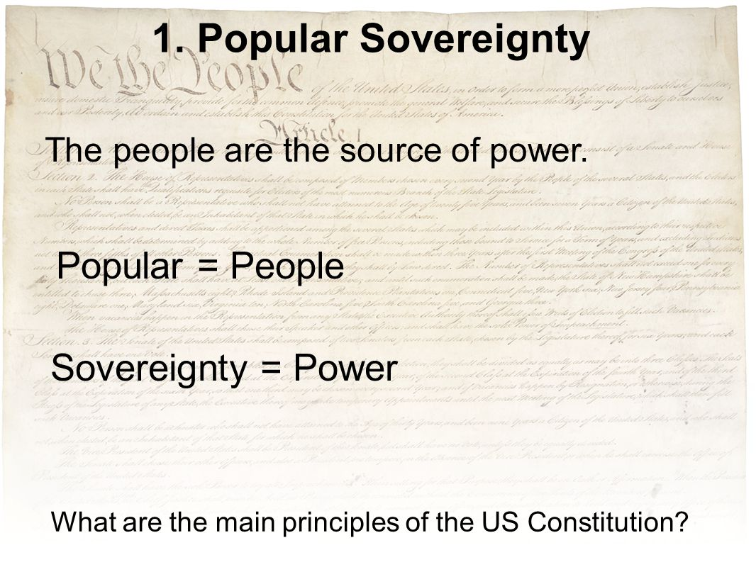 What are the main principles of the US Constitution.