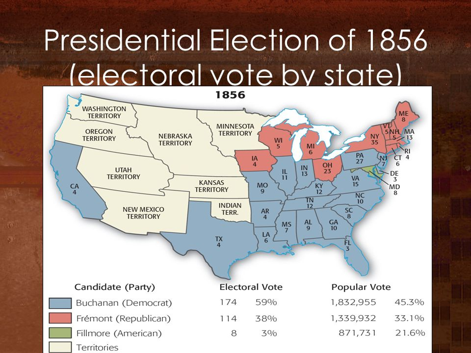 Presidential Election of 1856 (electoral vote by state)