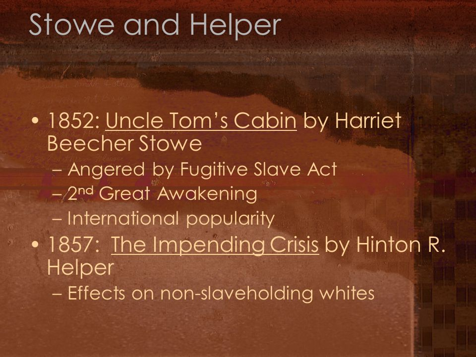 Harriet Beecher Stowe (1811–1896), Daguerreotype by Southworth and Hawes, The Book That Made This Great War Lincoln's celebrated remark to author Harriet Beecher Stowe reflected the enormous emotional impact of her impassioned novel.