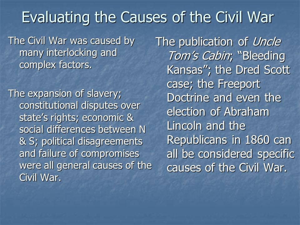 What was the results of the Presidential Election of 1860 1.