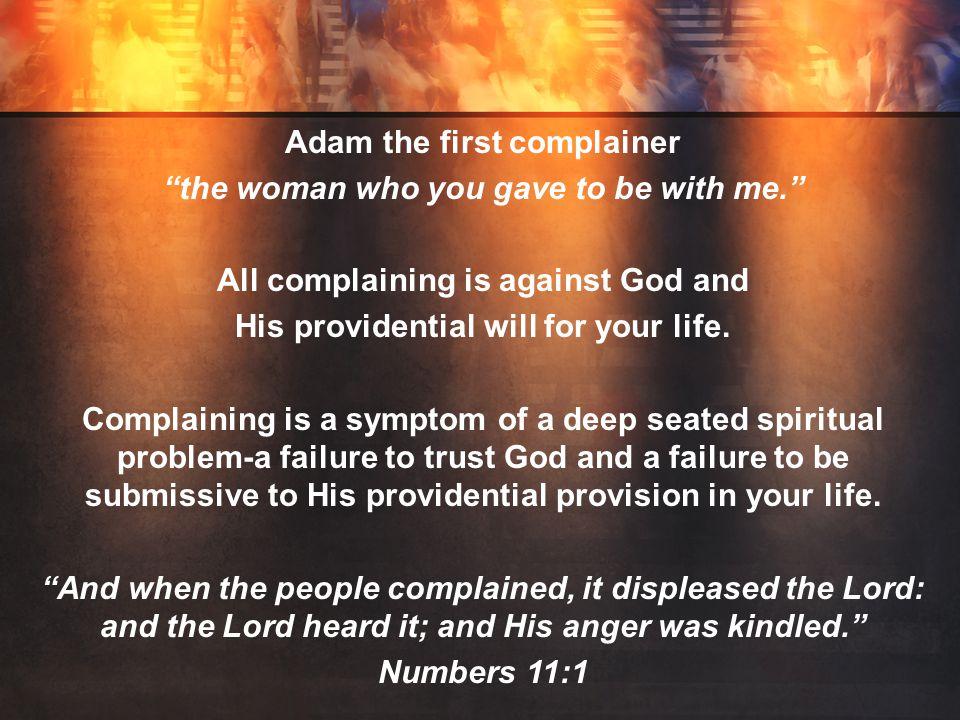 III. COMPLAINING DISCREDITS OUR CHRISTIAN TESTIMOMY