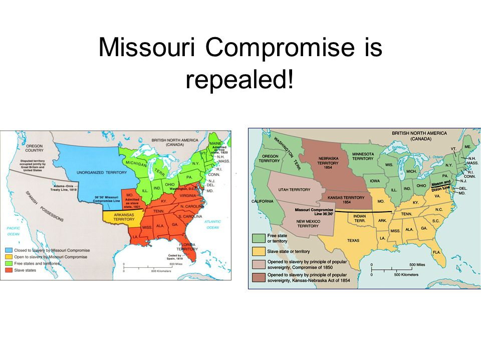 Missouri Compromise is repealed!