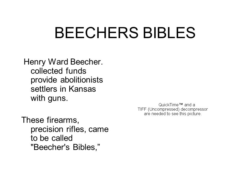 BEECHERS BIBLES Henry Ward Beecher.
