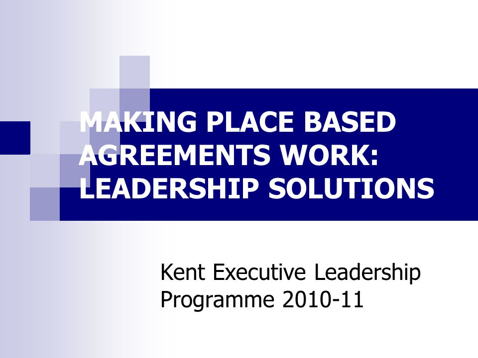 Challenges to place based approaches