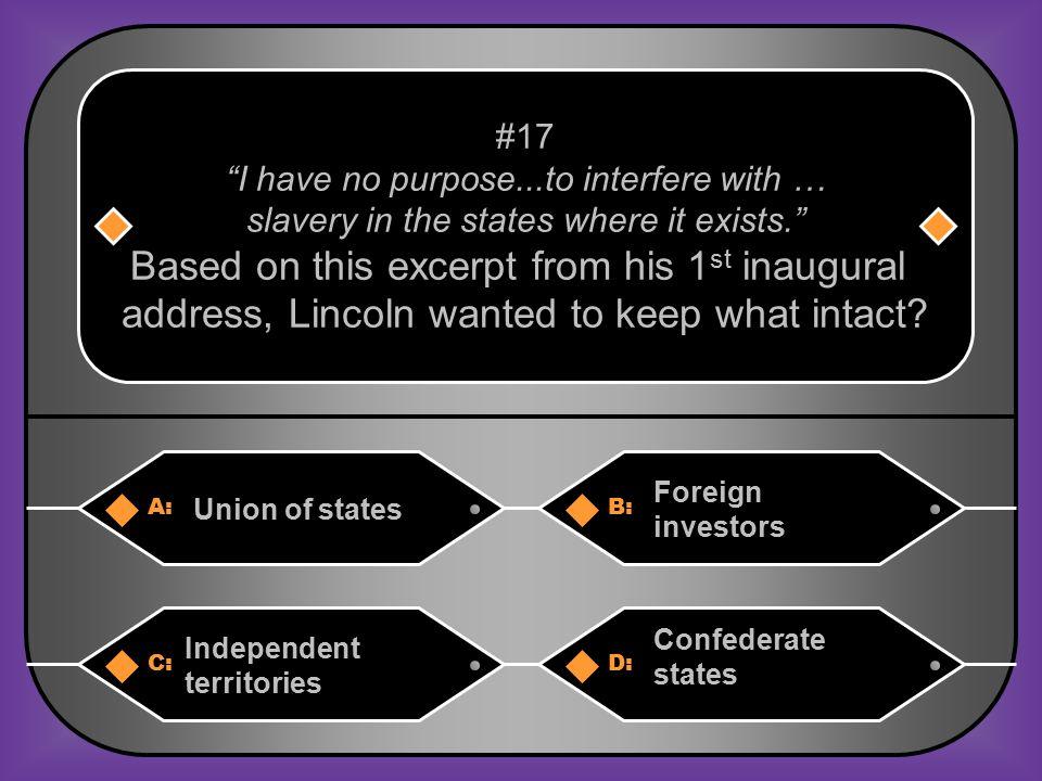 A. Confederacy