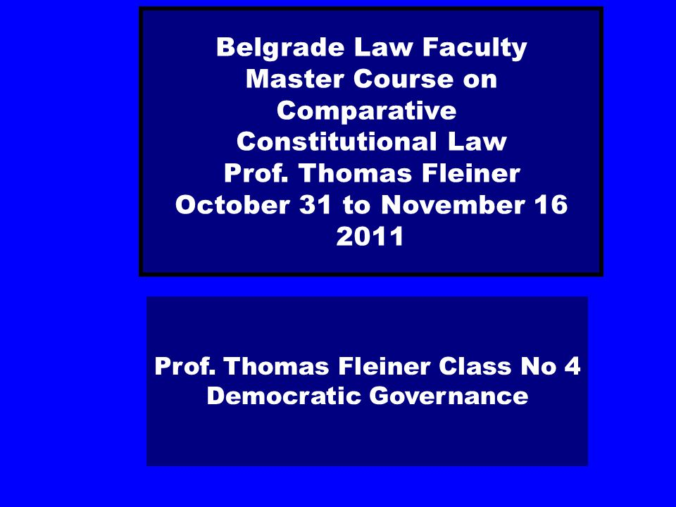 Democratic Governance − Good Governance
