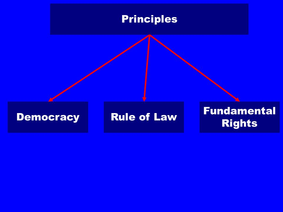 Principles DemocracyRule of Law Fundamental Rights