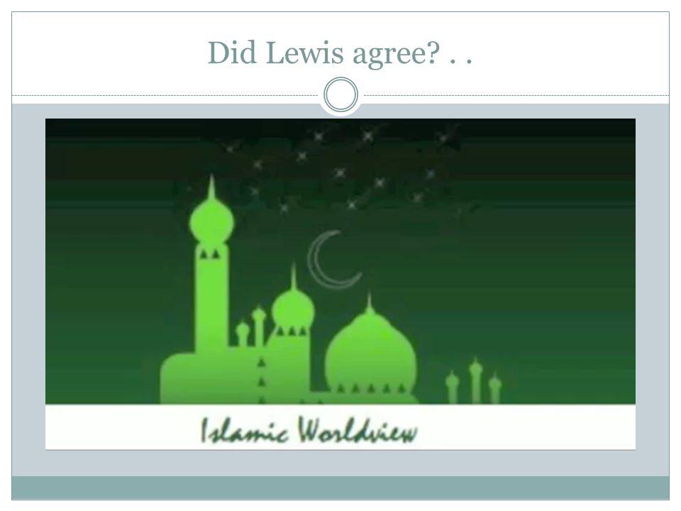 Did Lewis agree ..
