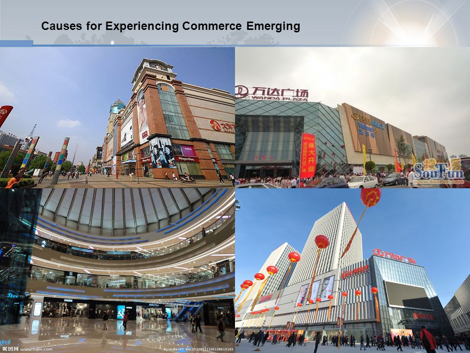 Causes for Experiencing Commerce Emerging