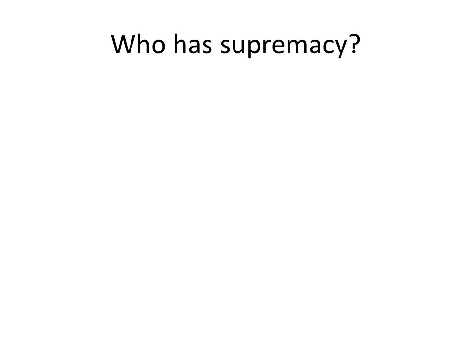 Who has supremacy