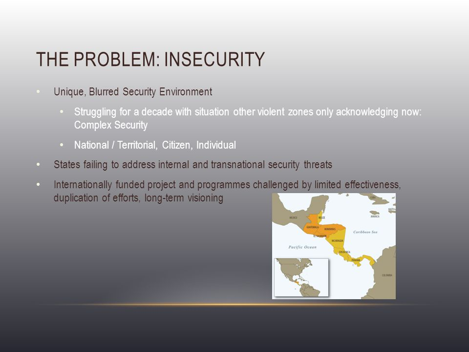 THE QUESTION: CAN SECURITY FORM A BASIS FOR CENTRAL AMERICAN REGIONALISATION.