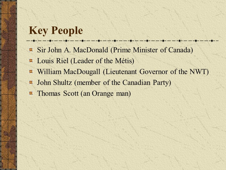 Key Questions Explain why the Canadian government wanted to gain control of Rupert's Land.