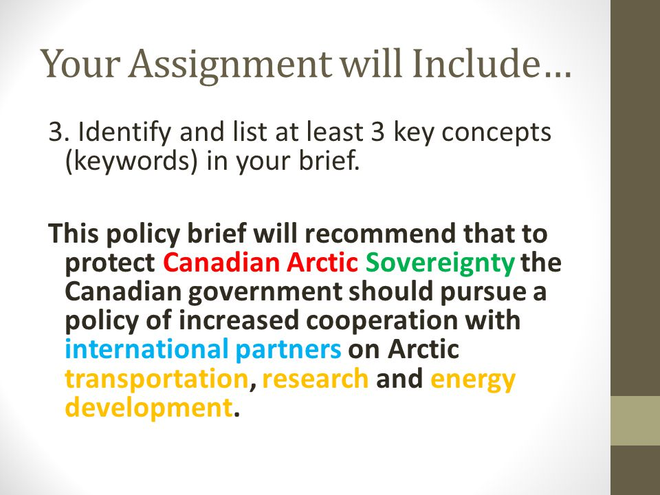 Your Assignment will Include… 3.