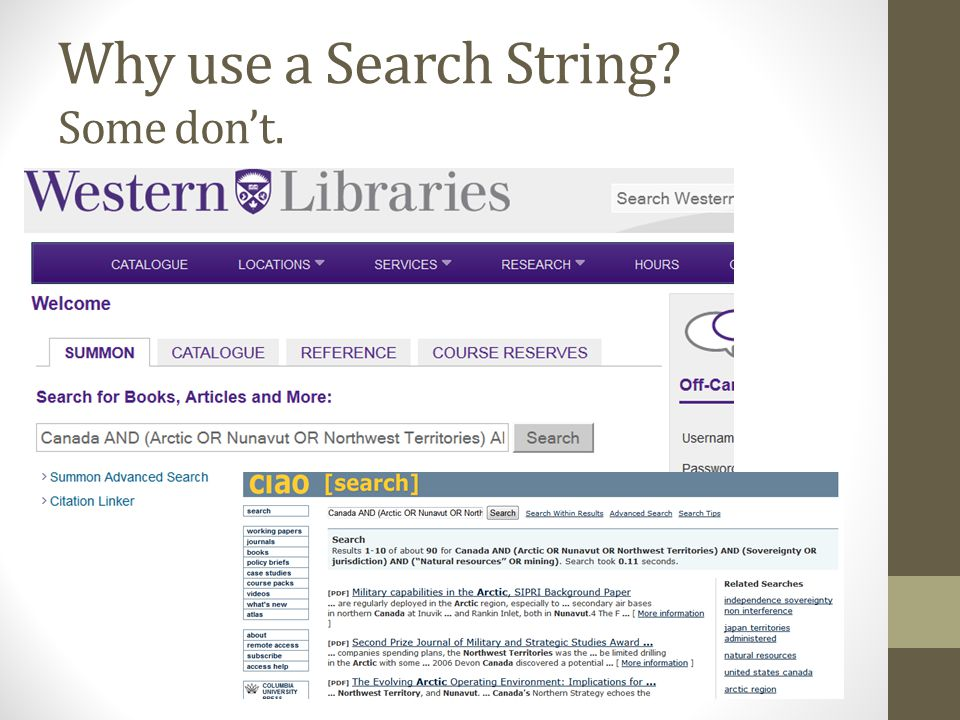 Why use a Search String Some don't.