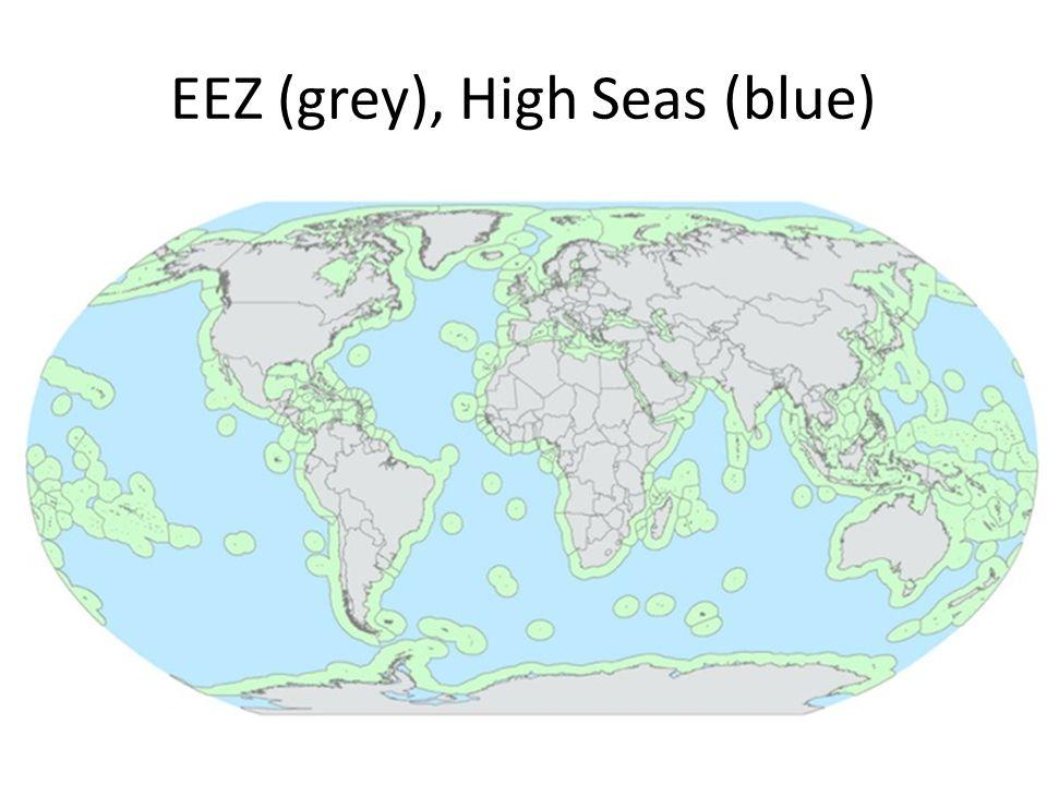 EEZ (grey), High Seas (blue)