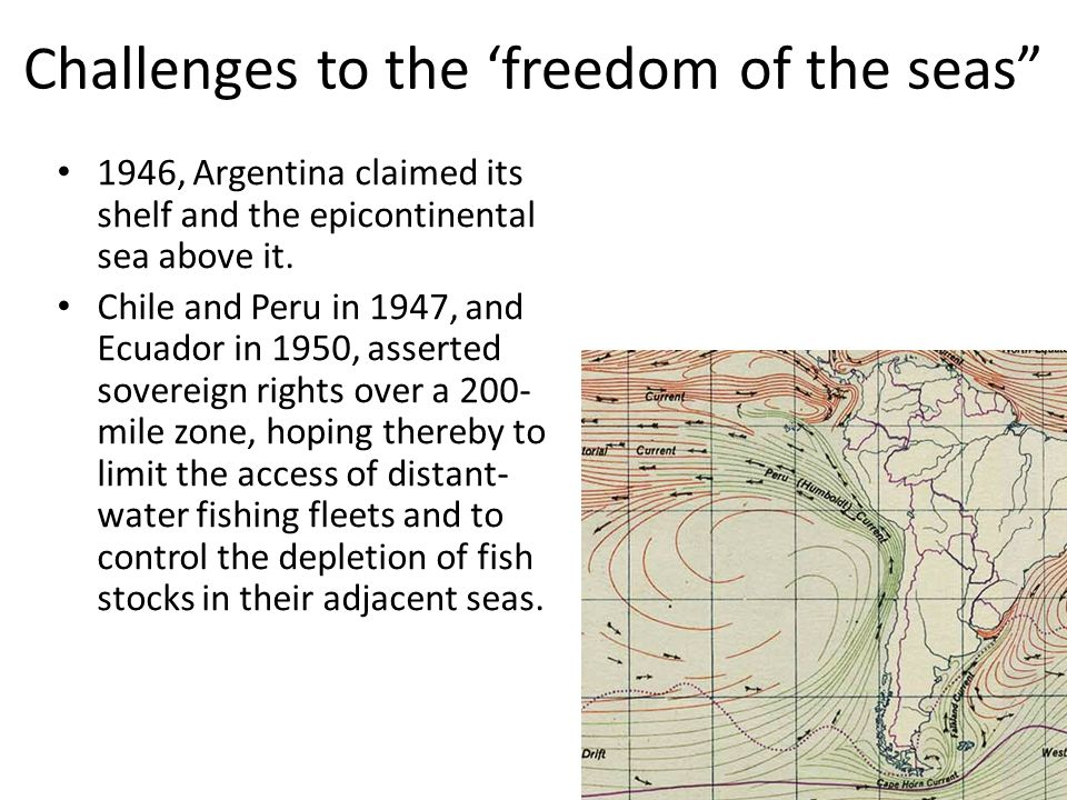 1946, Argentina claimed its shelf and the epicontinental sea above it.