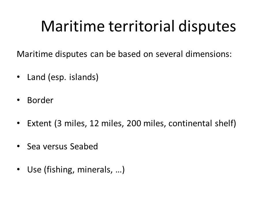 Maritime territorial disputes in China Seas