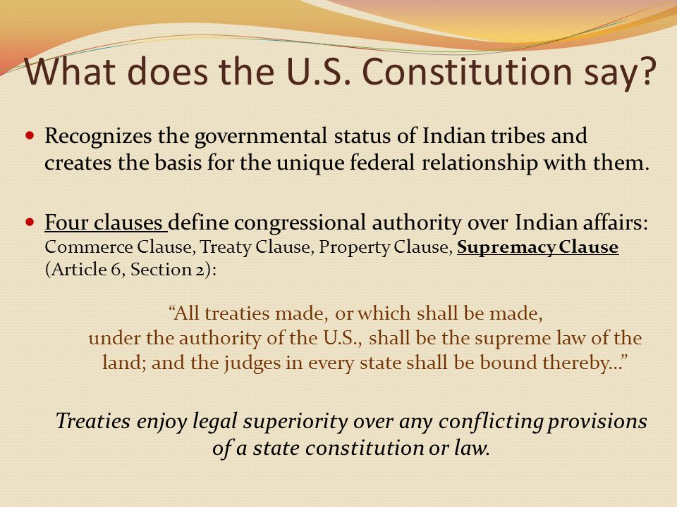 What does the U.S. Constitution say.