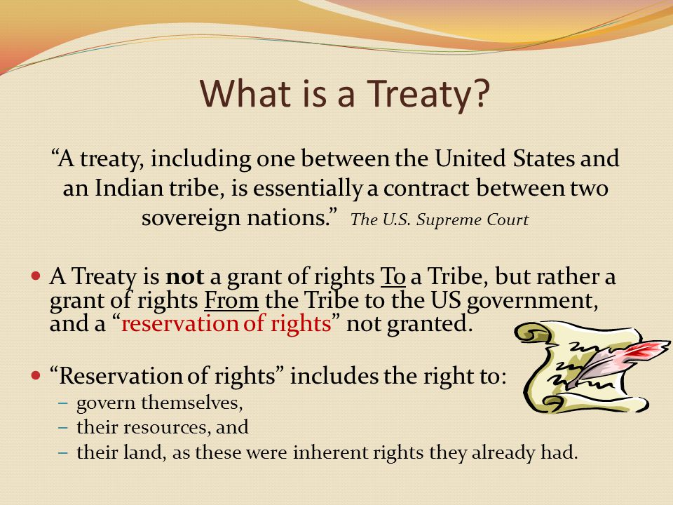 What is a Treaty.