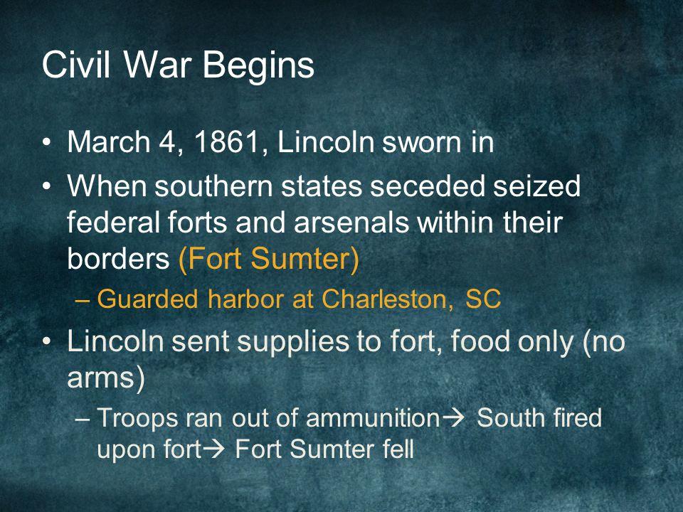 Short-Term Causes of the Civil War 1.Kansas-Nebraska Act splits political parties 2.Breakdown of party system 3. Lincoln elected President 4. S.C. sec