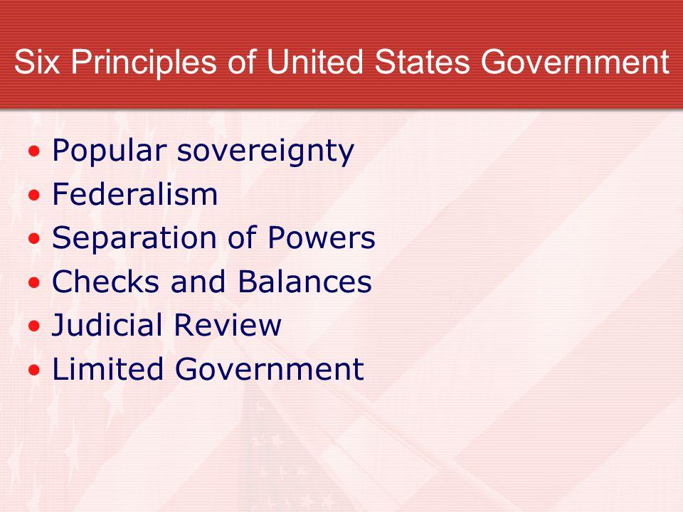Popular Sovereignty The United States Constitution is based on Popular Sovereignty – rule by the people.