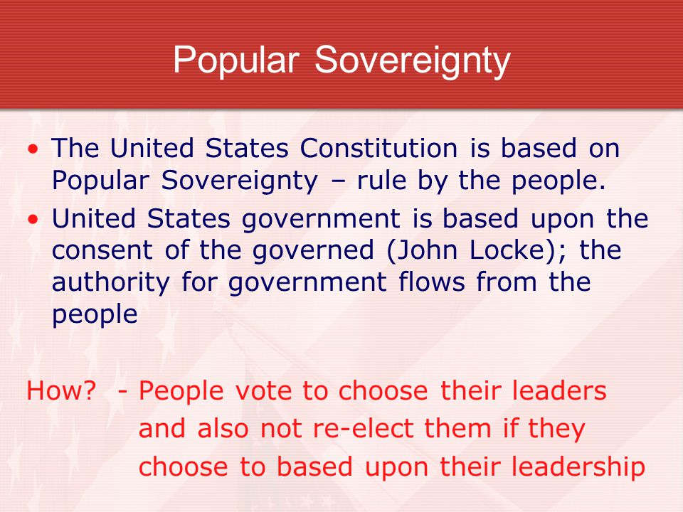 The Constitution The Constitution is a plan of government and serves as the supreme law of the land.