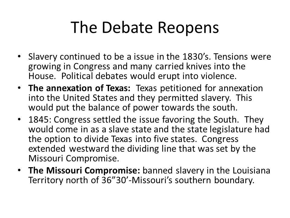 Effects on Annexation Debates 1.
